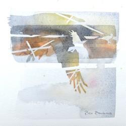 Orange Gold Crows<br>7 x7 - $175