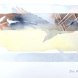 Peach Gold Crows<br>12 x 8 - $290