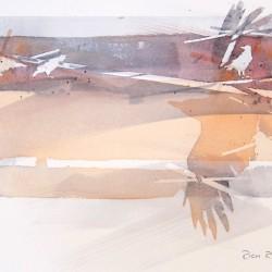 Peach Grey Crows<br>12 x 8 - $290