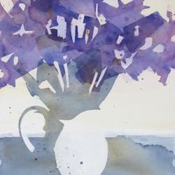 Purple Irises in a Jug<br>12 x 16 - $420