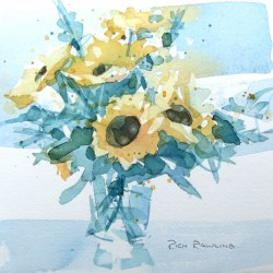 Cool Sunflowers<br/>7 x 7 - $175