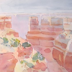 Canyon Near Sedona<br>12 x 12 - Sold