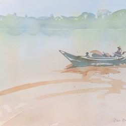 Yangon River Crossing<br>15 x 11 - Sold